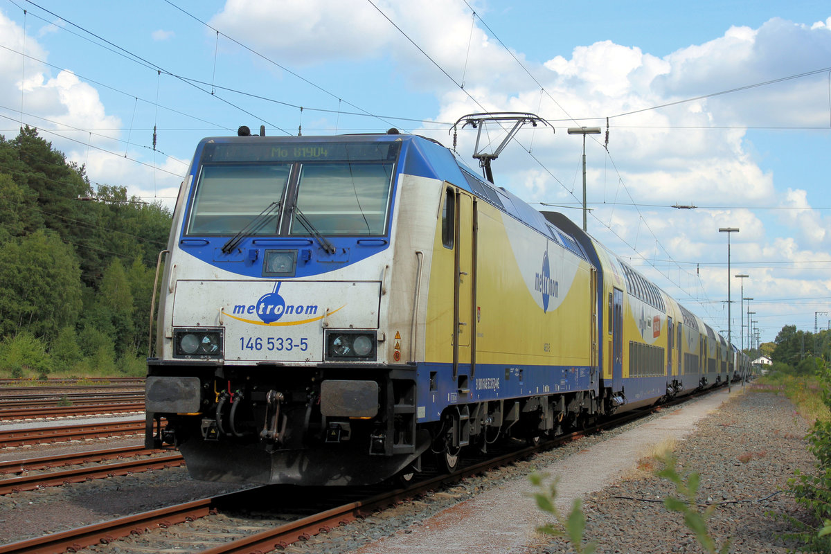 146 533-5 am 04.08.2018 in Rotenburg (Wümme).