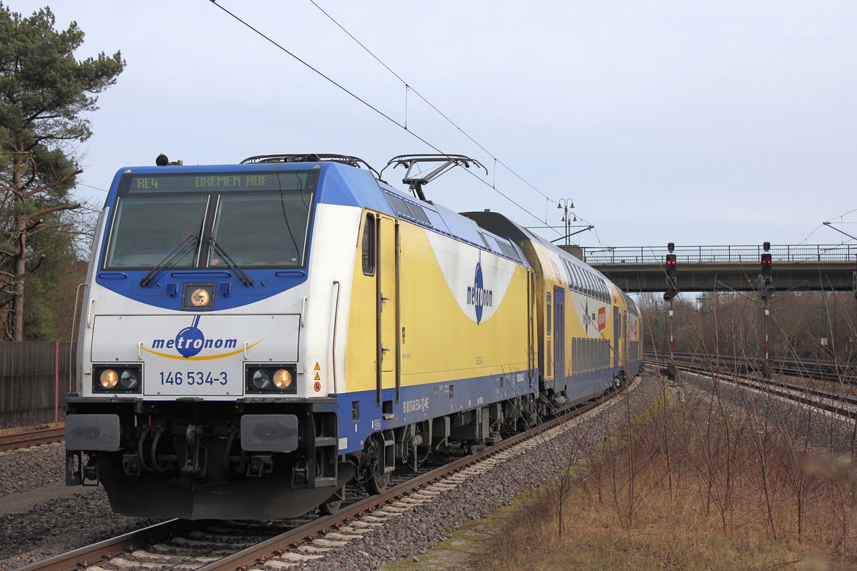 146 534-3 am 11.03.2017 in Rotenburg (Wümme).