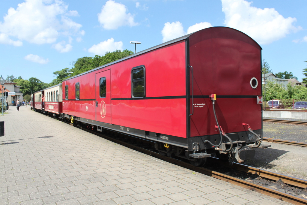Bäderbahn Molli am 10.06.2017 in Bad Doberan.