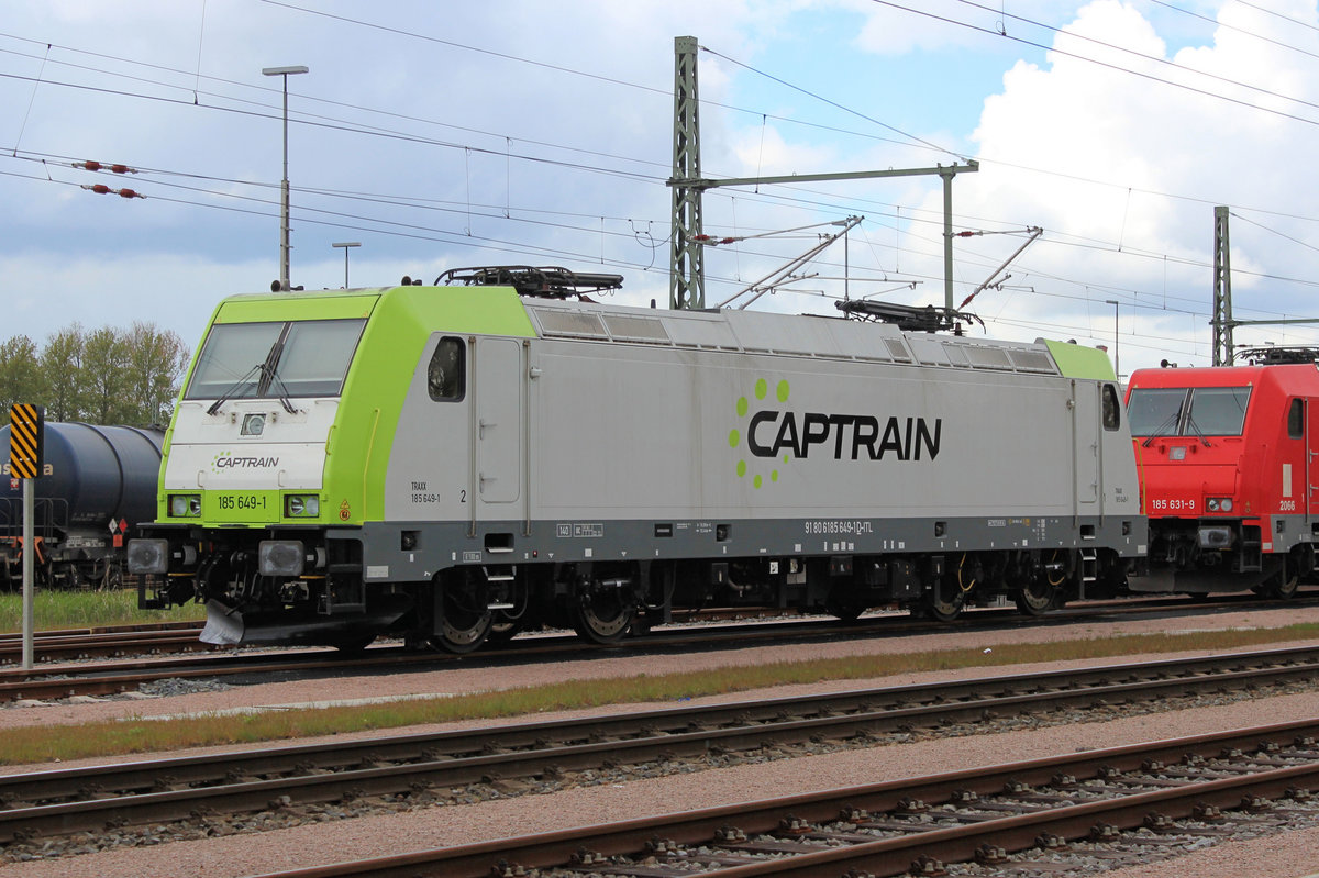 CAPTRAIN - 185 649-1 am 29.04.2017 in Hamburg - Hohe Schaar.