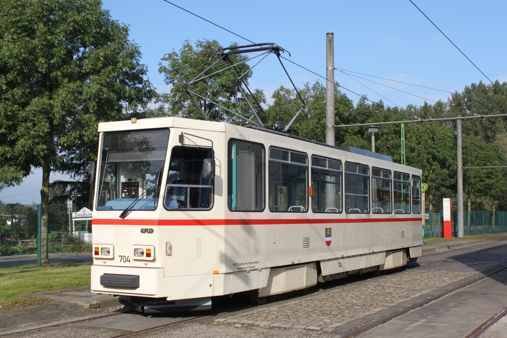 Ckd Tatra Wagen T6a2 704 Neben Dem Depot 12 In Rostock