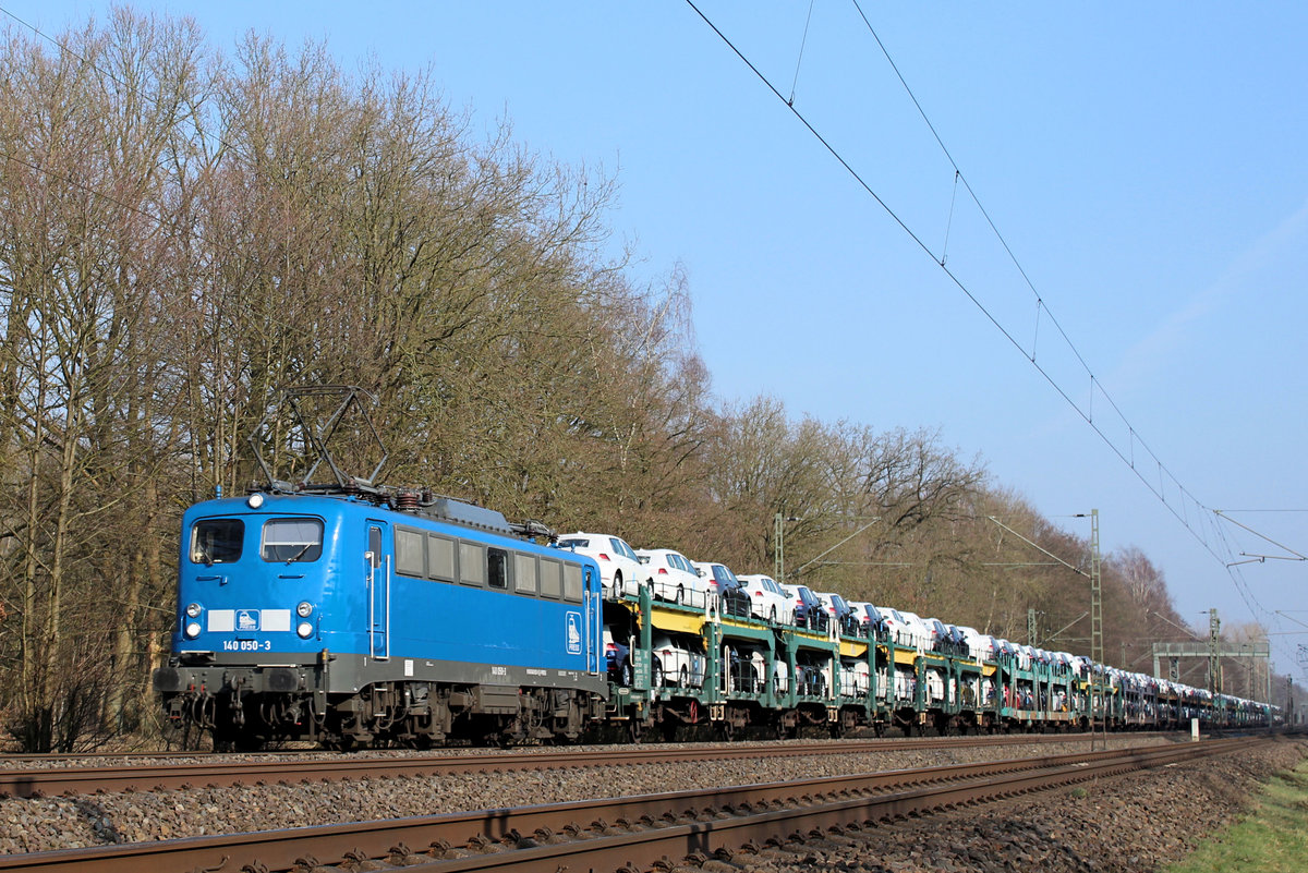 EGP - 140 050-3 am 08.02.2018 in Tostedt - Dreihausen.