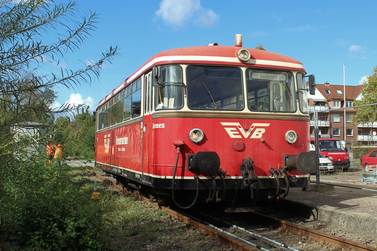 EVB-Moorexpress >168< am 25.09.2018 in Tostedt - West.