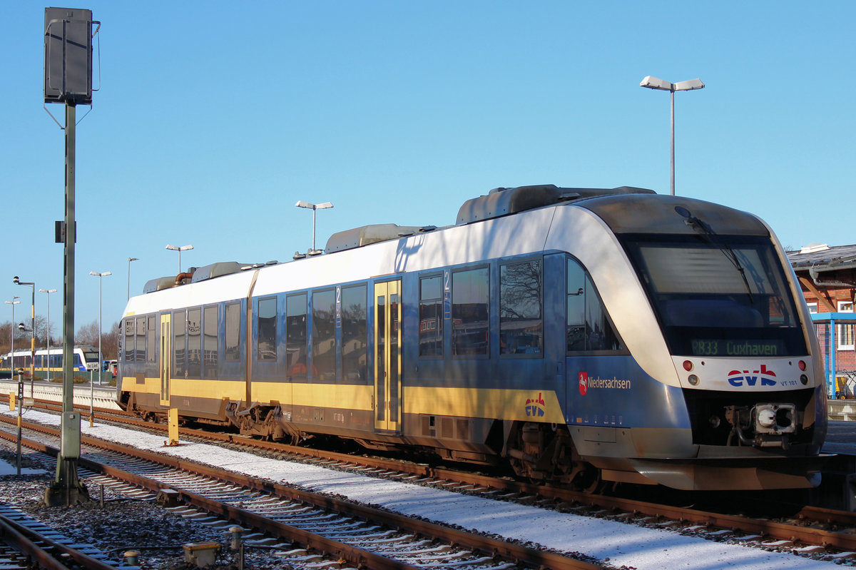 evb VT 101 am 15.01.2017 in Bremervörde.