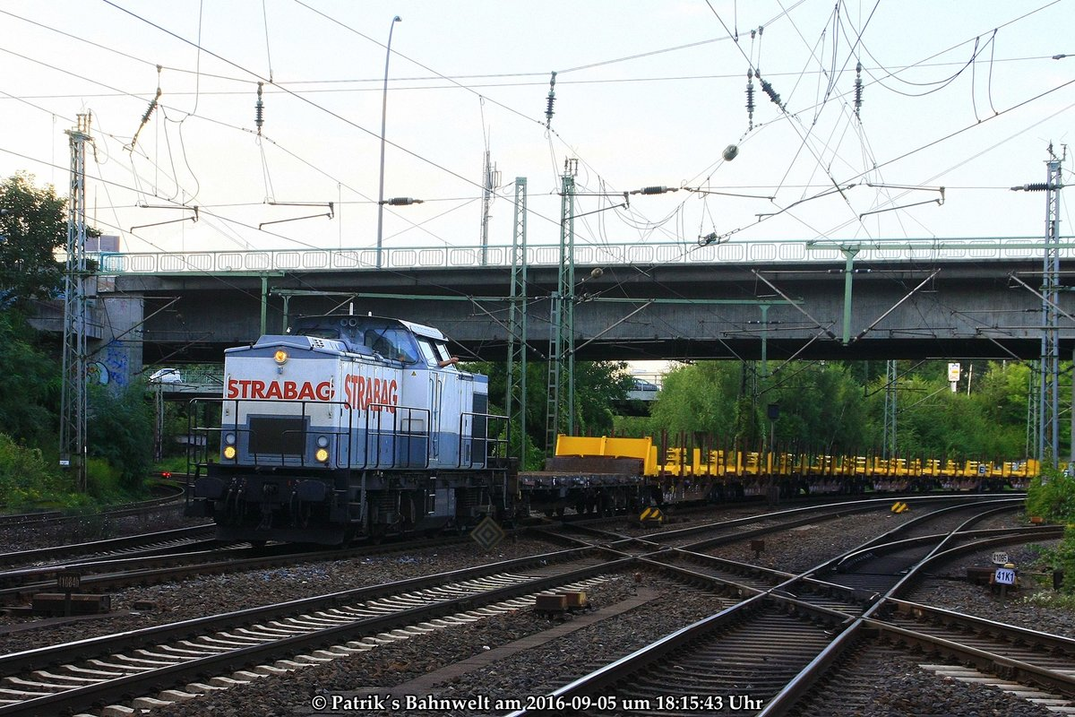 STRABAG 203 166 mit Res-Ganzzug am 05.09.2016 in Hamburg-Harburg