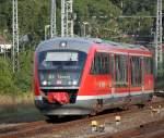 BR 642/285371/642-079-7-als-re8-von-wismar 642 079-7 als RE8 von Wismar nach Tessin bei der Einfahrt im Rostocker Hbf.10.08.2013