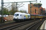 PCT 223 155 mit ARS Altmann Autotransportzug am 29.04.2016 in Hamburg-Harburg