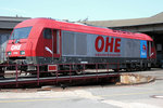 OHE 270081 (223 102-5) am 26.08.2011 in Celle (OHE-Betriebshof).
