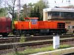MaK 1206/110683/eine-mak-1206-der-rbh-ist Eine MaK 1206 der RBH ist am 25.04.2008 im Bahnhof Gladbeck-West unterwegs.
