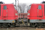 BR 151/511526/151-106-2-und-151-093-2-am 151 106-2 und 151 093-2 am 19.12.2012 in Hamburg - Altenwerder (Hansaport).