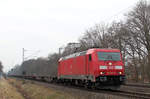 185 207-8 am 12.02.2017 in Tostedt - Dreihausen.