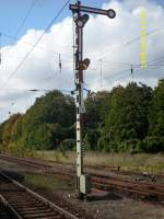 Formsignale/98924/ausfahrsignal-c-in-richtung-lancken-in Ausfahrsignal C in Richtung Lancken in Sassnitz.