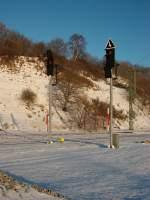Lichtsignale/112617/seit-dezember-2010-sind-endlich-die Seit Dezember 2010 sind endlich die 'Neuen' Ausfahrsignale in Lietzow im Betrieb.