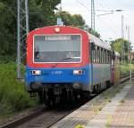 eisenbahngesellschaft-potsdamegp/285383/egp-sonderzug-von-warnemuende-nach-pritzwalk-bei EGP-Sonderzug von Warnemünde nach Pritzwalk bei der Durchfahrt im Bahnhof Rostock-Bramow.10.08.2013