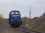 Baltic Port Rail Mukran`s EGP V60.02 unterwegs,am 30.April 2016,in Mukran.